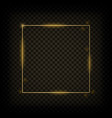 gold glowing frame vector image vector image