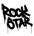 graffiti rock star word sprayed isolated on white vector image vector image
