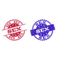 grunge scratched sex stamp seals vector image
