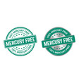 grunge stamp and silver label mercury free vector image vector image
