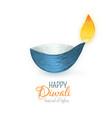 happy diwali indian diya festival of lights vector image vector image