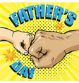 happy fathers day poster in retro comic style pop vector image