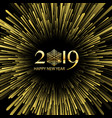 happy new year starburst background vector image vector image