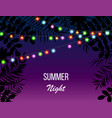 Hot summer night party invitation flyer template