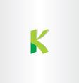 letter k green logo element vector image vector image