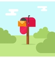 Mailbox post office box on vector image