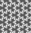 Monochrome black pointy three pedal flowers vector image vector image