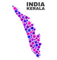 mosaic kerala state map of round dots vector image vector image