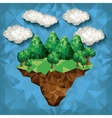 mountain low poly design vector image