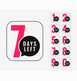 number days left promotional banner design vector image vector image