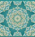 ornamental turquoise pattern vector image vector image