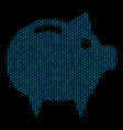 piggy bank composition icon of halftone spheres vector image
