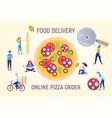 pizza online order vector image vector image