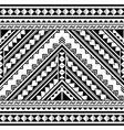 polynesian geometric seamless pattern vector image vector image