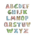 positive colorful alphabet for children isolated vector image