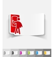 realistic design element delivery man vector image vector image
