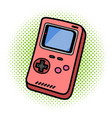 retro portable handheld game device on isolated vector image