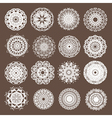Round Lace Collection vector image vector image