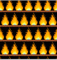 seamless background with fire vector image