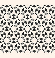 seamless texture floral tile pattern monochrome vector image vector image