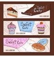 set decorative banners vector image vector image