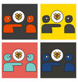 set of dropbox color icon realistic icon or logo vector image vector image