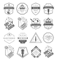 Set of logos and badges music vector image vector image