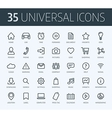set universal thin line icons for print or web vector image vector image