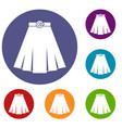 skirt icons set vector image vector image