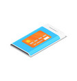 smartphone with credit card isometric 3d icon vector image
