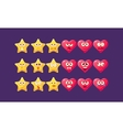 Stars And Hearts Emoji Character Set vector image vector image