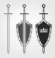 swords and shield vector image