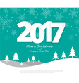 Text 2017 Christmas paper style vector image vector image