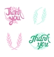 Thank you hand lettered signs with olive vector image vector image