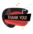 thank you shape trendy 2019 gradient flat vector image vector image