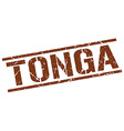 Tonga brown square stamp vector image vector image