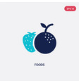 two color foods icon from food concept isolated vector image vector image