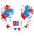 uas sign with balloons in flag color vector image
