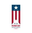 usa patriot day ribbon american national flag vector image vector image