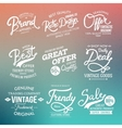 White Fashion Labels on Abstract Background vector image vector image
