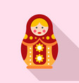 woman nesting doll icon flat style vector image vector image