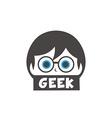 young geek girl cartoon vector image