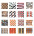 seamless road stone tile set vector image