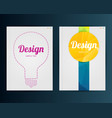 business template for flyer banner placard vector image