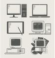computer set icon vector image