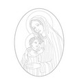 virgin mary and son vector image