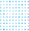 100 computer icons vector image vector image