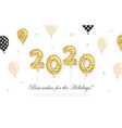 2020 new year and christmas template with gold vector image vector image