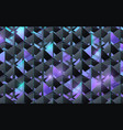 abstract 3d pyramid structure pattern futuristic vector image