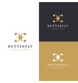 abstract wing butterfly logo icon template vector image vector image